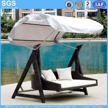 Garden Furniture Rattan Furniture Swing with Canopy Swing Bed