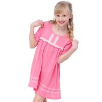 Sweet girls' pure cotton nightgown