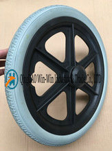 Solid Urethane Foam Wheels for Wheelchairs with Caps (16*1.75)