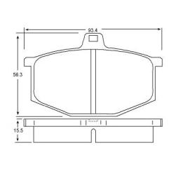 Brake pad for RENAULT