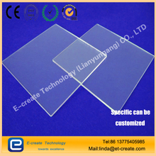 china supplier high light transmittance 92- 99.5% circular transparent uv quartz glass plate, quartz glass sheet