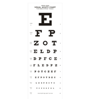 optometry equipment snellen acuitry chart light box
