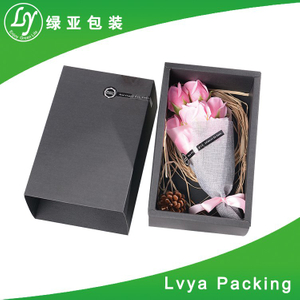 Black custom hard paper magnetic closure gift box