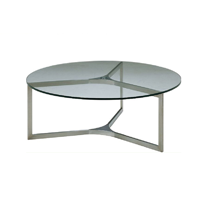Small round transparent fiber glass coffee table Buy glass coffee