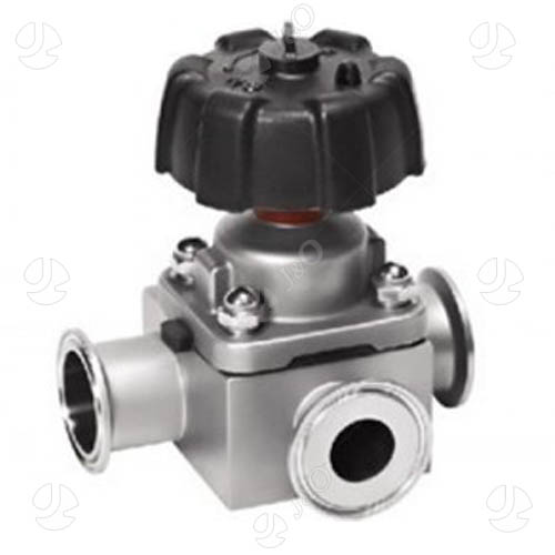 Hygienic way clamp stainless steel diaphragm valve