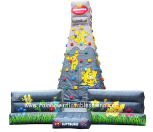RB13008(6x6x6.5m) Inflatable Climbing Rock Game/ Inflatable Customized Climbing Mountain Game
