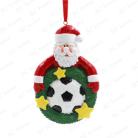 Christmasman With Football Ornament Personalized Christmas Tree Ornament