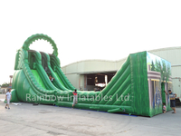 RB6059 (21x6x10m)Inflatable Giant Zip Line Slide for sale