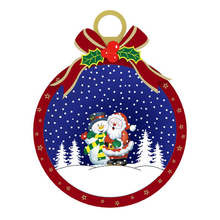 Wooden Decor Snowing Christmas Ball with Bowknot