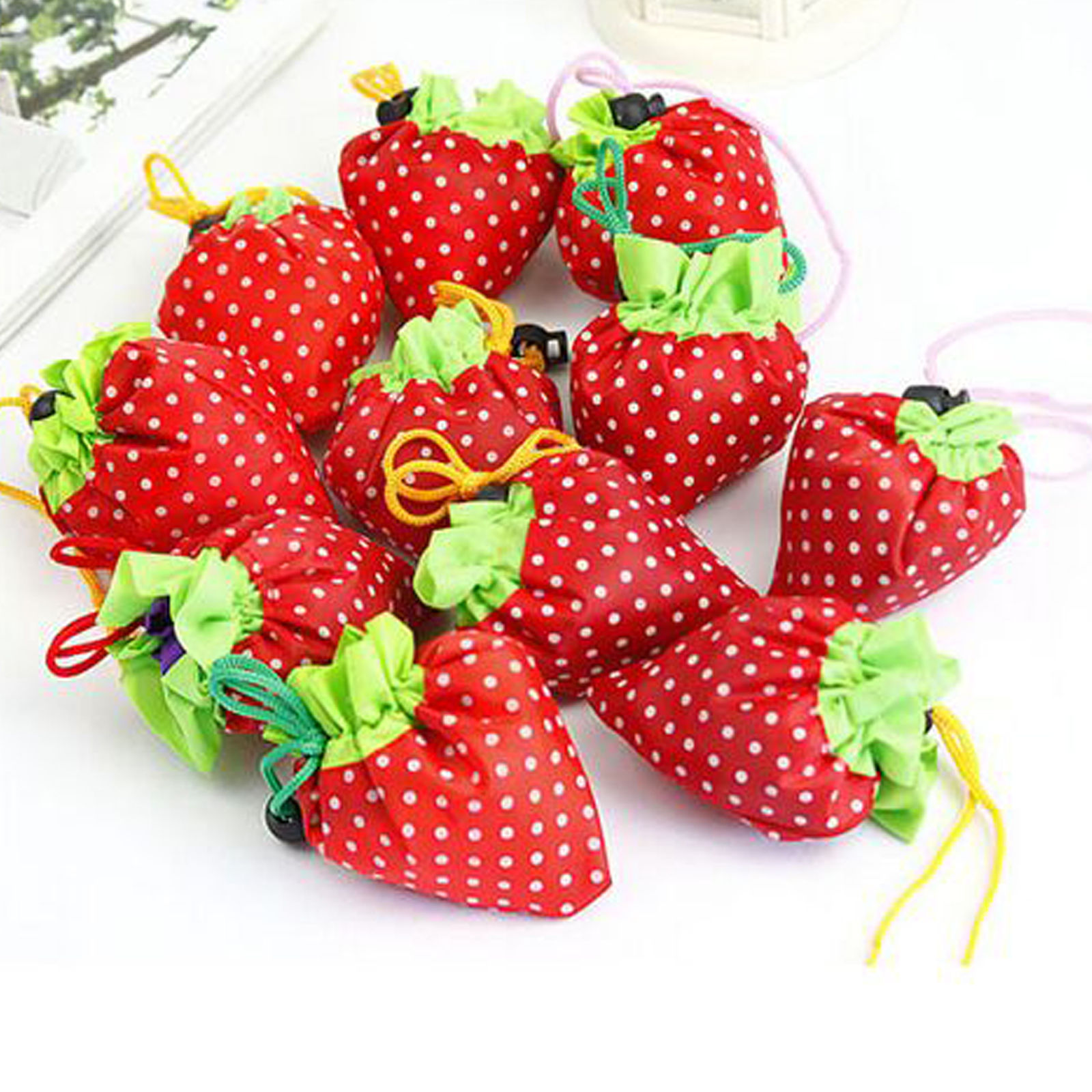 Cute Foldable Storage Strawberry Eco Reusable Shopping Recycle Grogery Bag