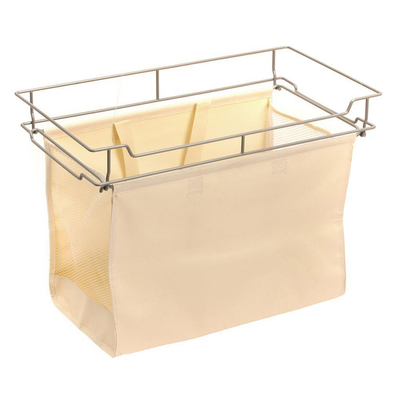 Full Extension Pull Out Hamper With Removable Hanging Canvas Bag