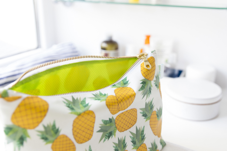 Personalized Pineapple Makeup Bag
