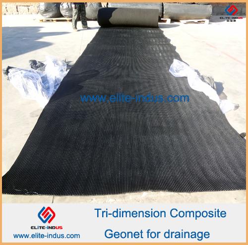 Tri-dimension composite geonet for drainage
