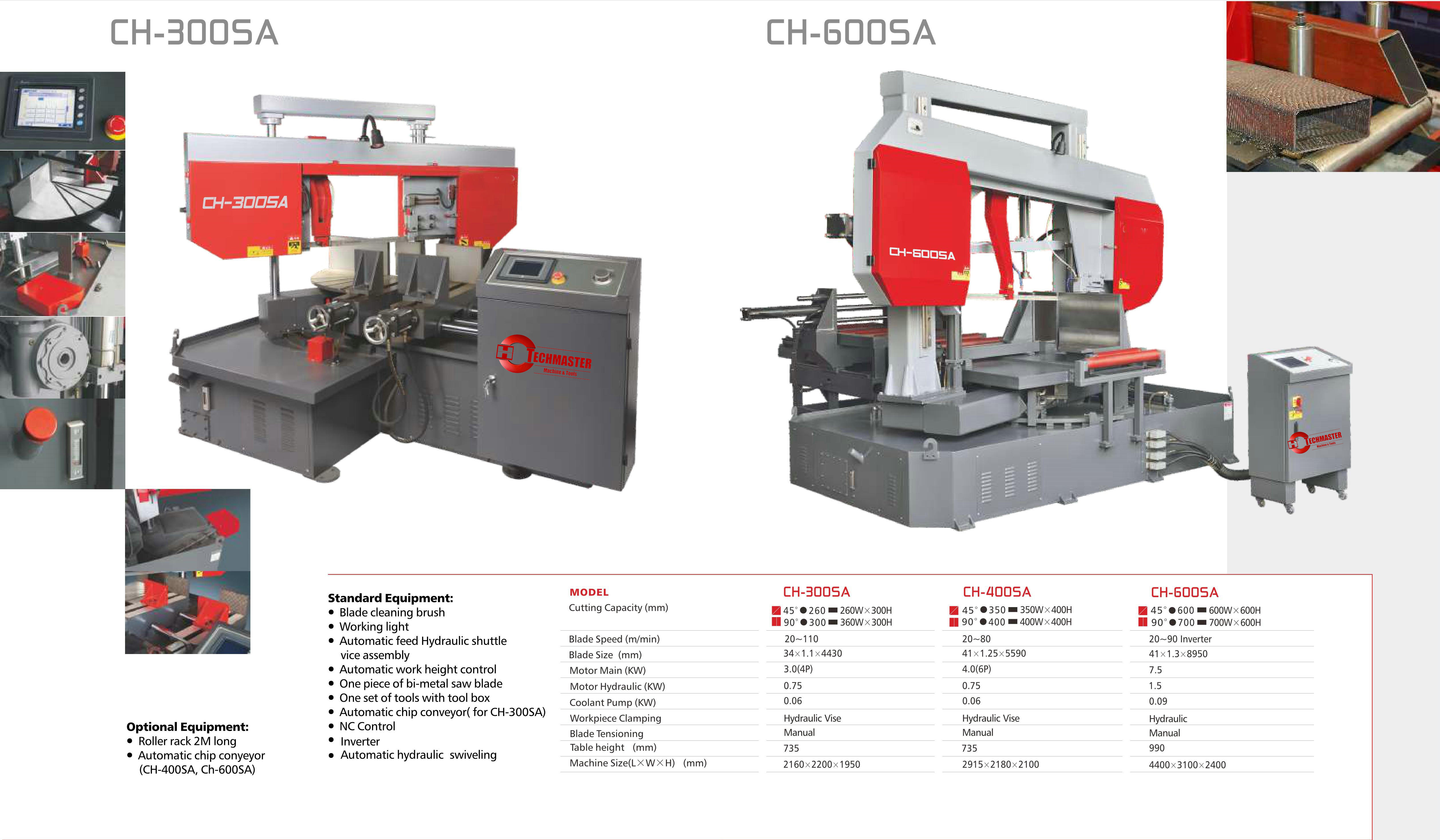 DOUBLE COLUMN FULLY AUTOMATIC BAND SAWS CH300S-CS280S