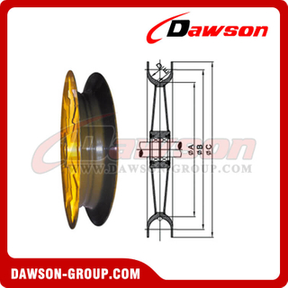 Wide Groove Pulley para Ship Unloader