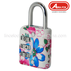 Zinc Alloy Colour Heat Plated Design Combination Padlock (802-1)