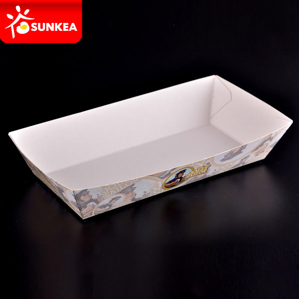 Disposable Custom Printed White Paper Food Tray & Disposable Custom Printed White Paper Food Tray - Buy Paper Food ...