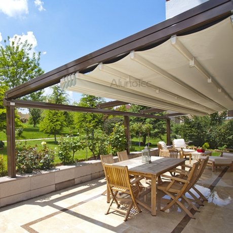aluminum retractable pvc pergola fabric roof buy pergola awning pvc pergola pergola fabric. Black Bedroom Furniture Sets. Home Design Ideas