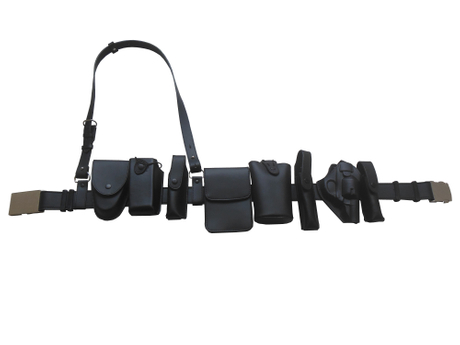 Police Securiy Duty Belt Set with Multi Functional Pouches