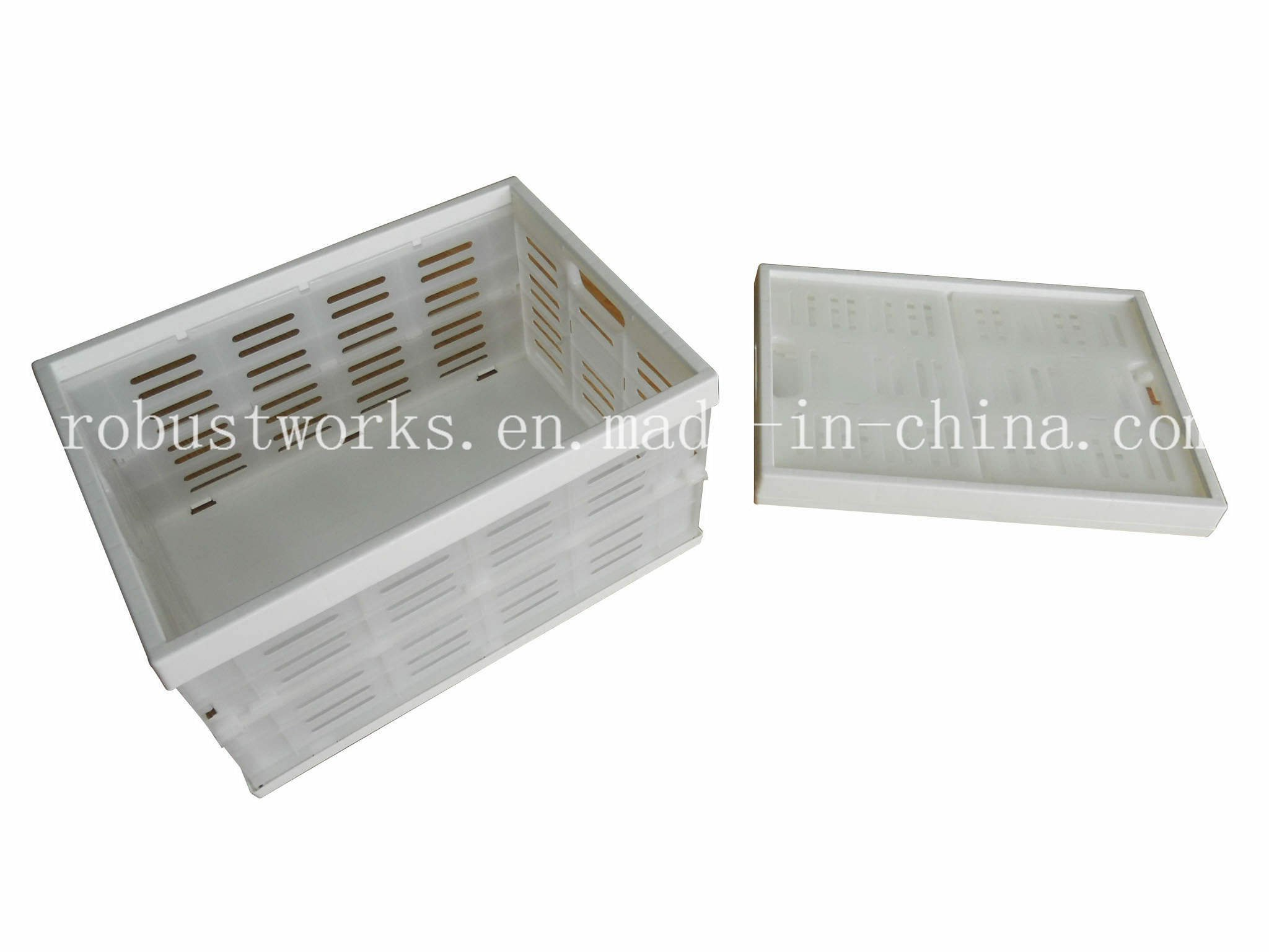 Portable Folding Plastic Basket (FB004W)