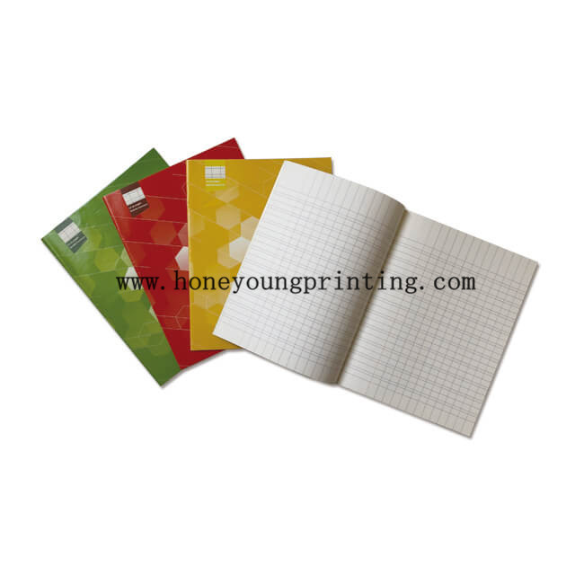 Soft cover staple binding 32 pages 17x22cm double line exercise book