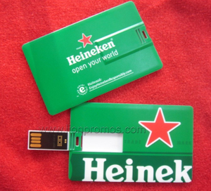 Custom Printing Beer Promotional Credit Card USb Flash Drive