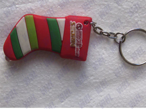 Christmas Festival Promotional Advertising Silicone Keyring