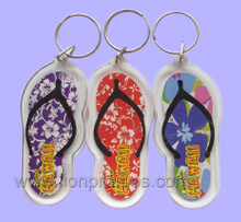 Tourism Premium Slipper Light House Cap Tree etc Shape Acrylic Key Ring