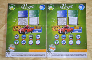 Vega Cigarette Rainproof Advertising PVC Sticker
