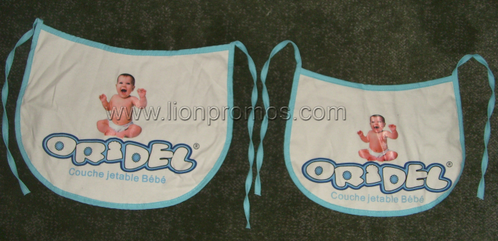 Oridel Logo Diaper Promotional Gift Cheap Cotton Jersey Baby Bib