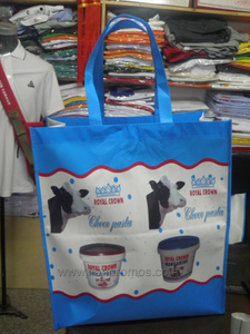 Cameroun Dairy Industry Royal Crown Logo Colorful Printed Laminated Non Woven Bag