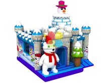 RB01036(5x5m)Inflatable commercial Snow castle bouncer on sale