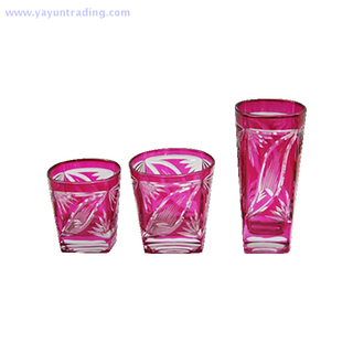 2019 modern style colorful drinking glass cup set of 3