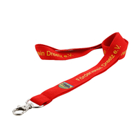 Custom badge holders lanyard with polyester material and print logo for colleges