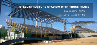 Commercial Steel Building - Steel Structure Stadium with Truss Frame in Aruba