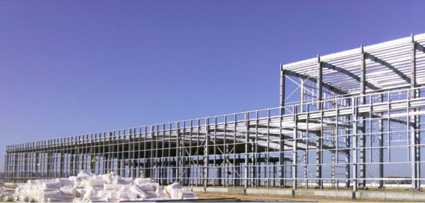Saudi Arabia steel structure plant project finished steel frame