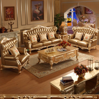 Real Leather Sofa and Living Room Cabinets for Home Furniture