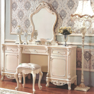Dresser Table and Chest Cabinets for Wooden Bedroom Furniture