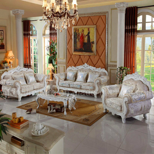 929X Wood Sofa Set for Living Room Furniture