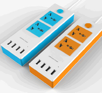 Smart Socket with 2 AC Socket and 4 USB Ports