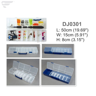 DJ0301 Long Length Transparent Fishing Assortment Box