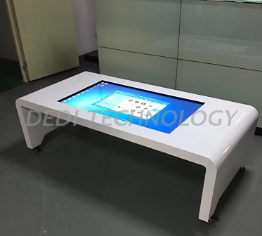 Dedi 43inch P-Cap Touch Tea Table with Drawer Stainless Steel