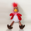 OEM stuffed wild animals cute pink plush flamings with cloth