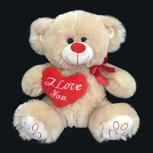 Soft Teddy Bears Holds Heart Which Shows I Love You