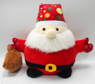 Adorable Christmas Santa Claus Soft Baby Toys with Bag