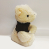 Lovely White Teddy Bears with Black Sweater Add Logo