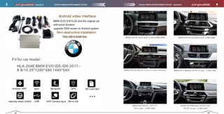 BMW EVO ID5 ID6 Multimedia Video Interface Android 8 Fm Aux Usb Sd Gps Navigation 4g Wifi Mirroring