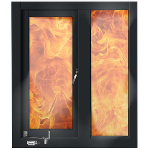 Steel frame fire rated window