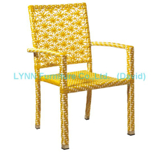 Stackable Rattan Chair for Outdoor Garden Restaurant