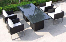 Outdoor Restaurant Dining Set Rattan Chairs and Table
